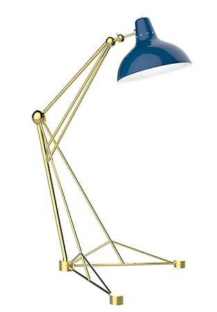 Delightfull Diana golvlampa – Guld, blå