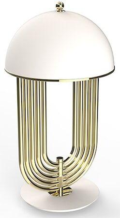 Delightfull Turner bordslampa – Guld, matt vit