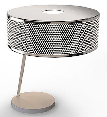 Delightfull Marcus bordslampa – Nickel, vit