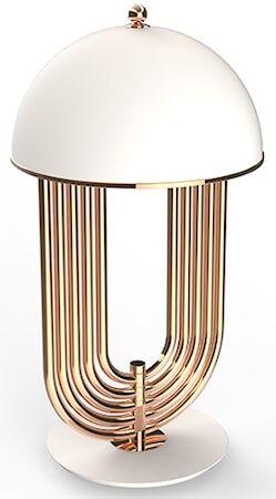Delightfull Turner bordslampa – Koppar, matt vit