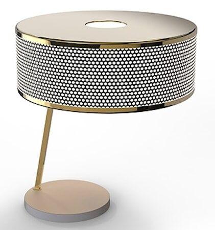 Delightfull Marcus bordslampa – Guld, vit