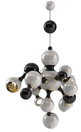 Delightfull Atomic takpendel - Black/white lacquered