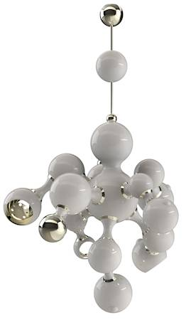 Delightfull Atomic takpendel - White lacquered