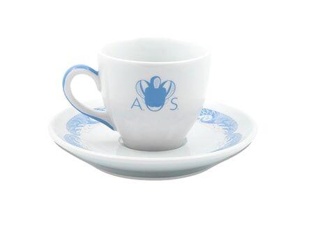 Anitha Schulman Porslin Stories from the sea espressokopp inkl fat – Azur, 2-pack