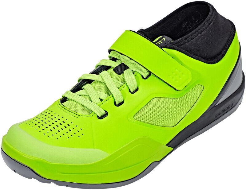 Shimano SH-AM7 Bike Shoes lime green EU 46 2019 DH, FR & BMX-skor