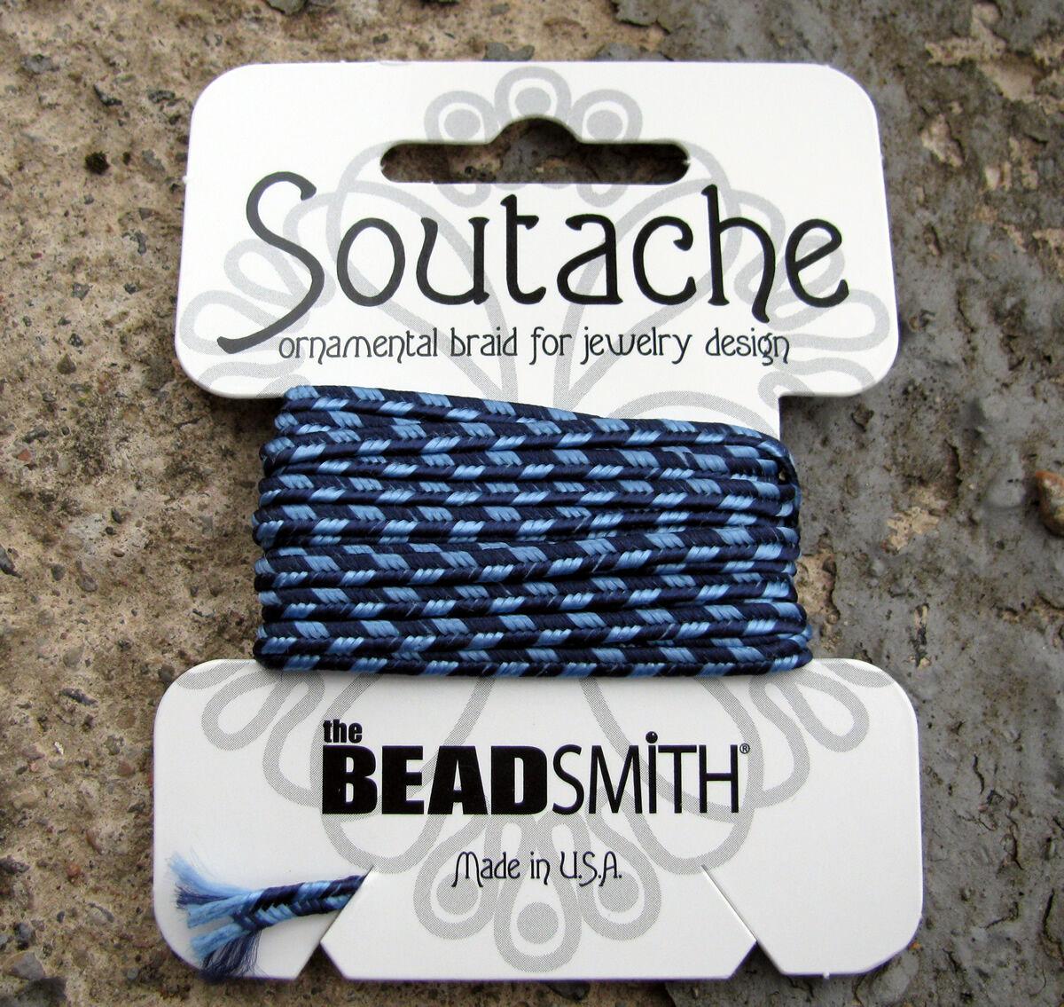 Soutache band randigt - Navy / Blue 1 förpackning (3 yards)