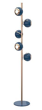 Delightfull Scofield golvlampa – Koppar, blå