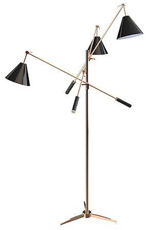Delightfull Sinatra golvlampa – Koppar, svart