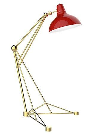 Delightfull Diana golvlampa – Guld, röd