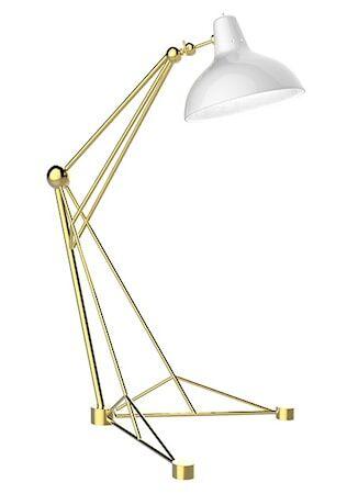 Delightfull Diana golvlampa – Guld, vit
