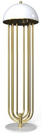 Delightfull Turner golvlampa – Guld, vit