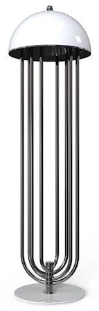 Delightfull Turner golvlampa – Svart nickel, vit