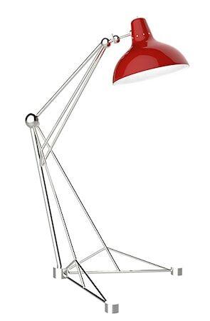 Delightfull Diana golvlampa – Nickel, röd
