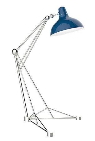 Delightfull Diana golvlampa – Nickel, blå