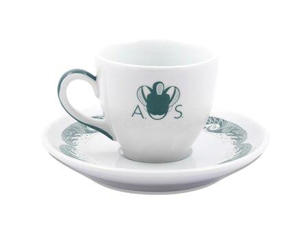 Anitha Schulman Porslin Stories from the sea espressokopp inkl fat – Nordic sea, 2-pack