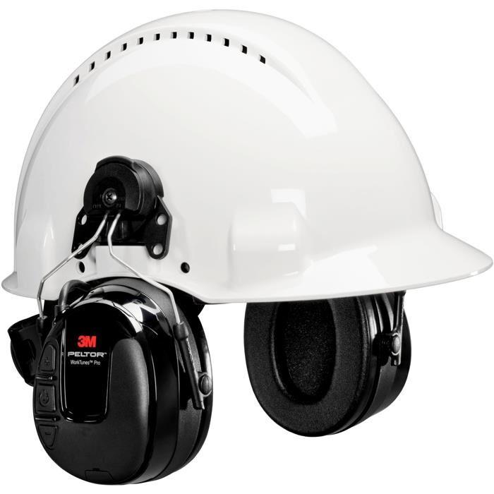 3M Peltor WorkTunes Pro Hörselskydd med hjälmfäste
