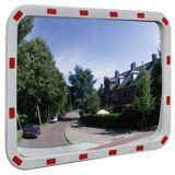 vidaXL Konvex trafikspegel PC-Plast 60 x 80 cm med reflexer