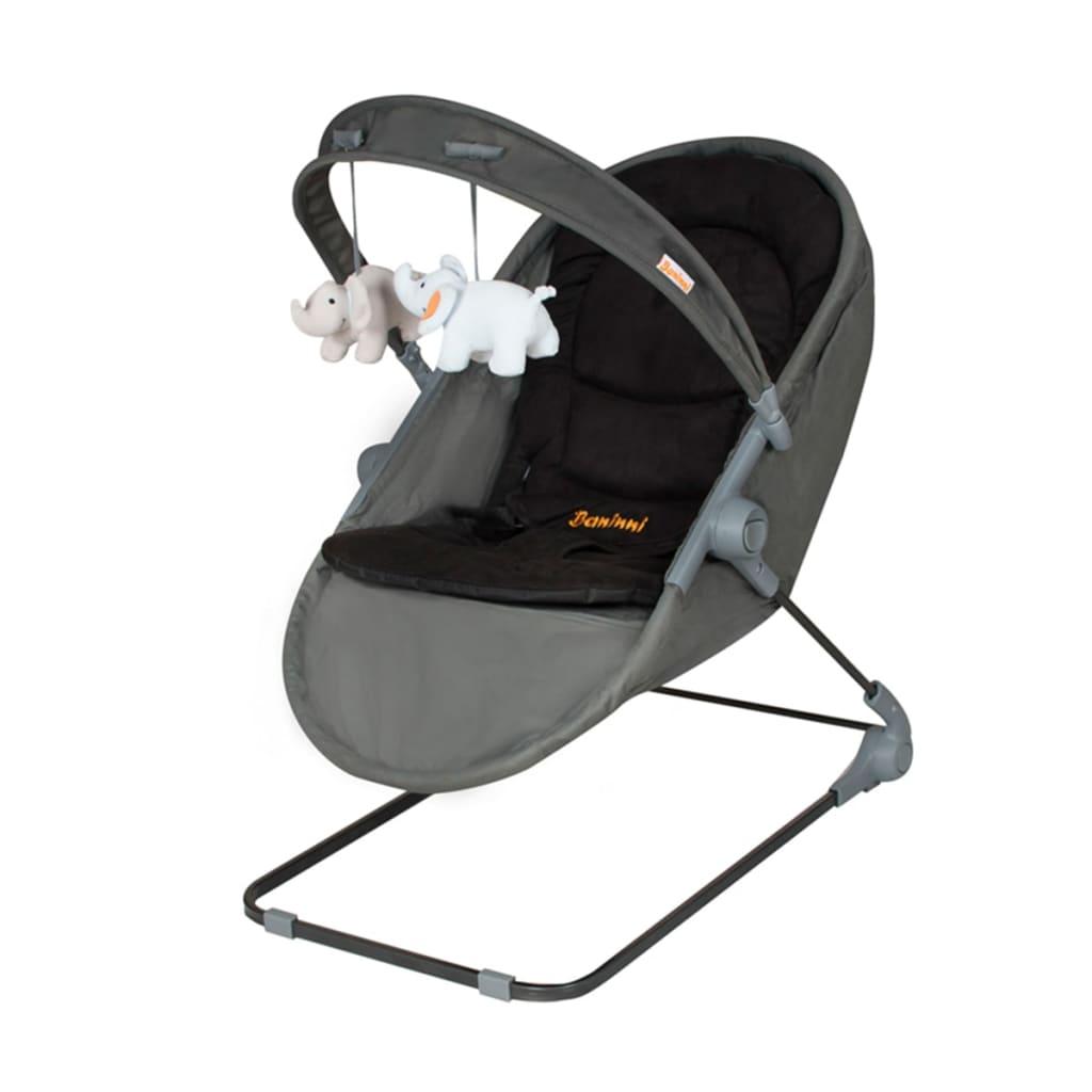Baninni 2-i-1-Babysitter/vagga Nina Zeno grå och svart BNBO001-GY