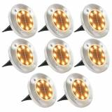 vidaXL Marklampor soldrivna 8 st LED varmvit