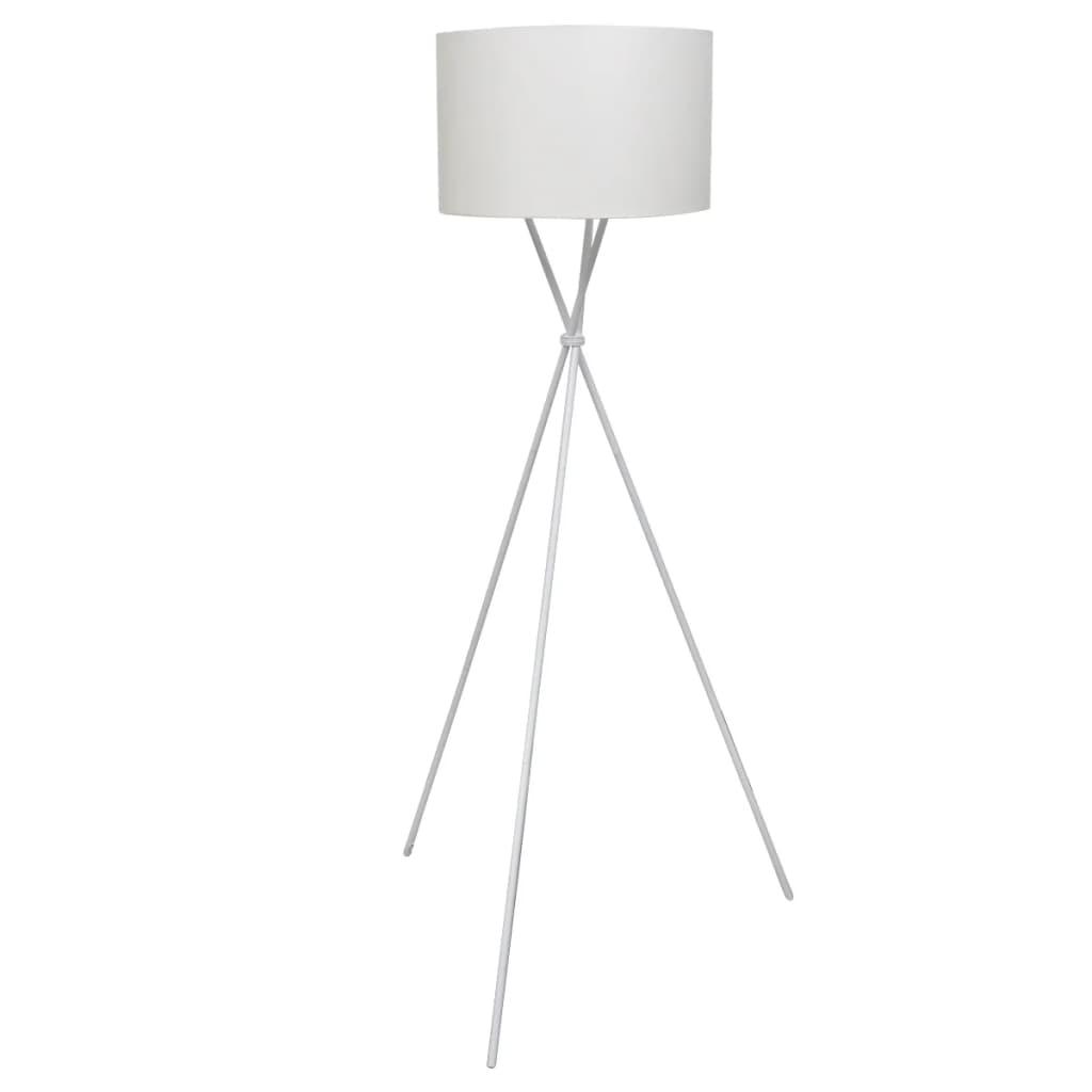 vidaXL Golvlampa med högt stativ vit
