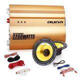 """Auna 2.0 Bilstereo Set """"Golden Race V1"""" - 5 """"högtalare & förstärkare 2200W"""