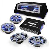 """Electronic-Star Bil-hifi set """"BeatPilot FX-412"""" högtalare förstärkare"""