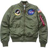 Alpha Industries MA-1 VF NASA Ladies jacka Grön L