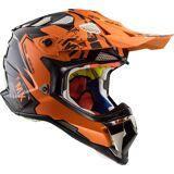 LS2 MX470 Subverter Emperor Motocross hjälm Svart Orange 2XL