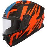 SMK Helmets Stellar Trek Motorcykel hjälmen Svart Röd M