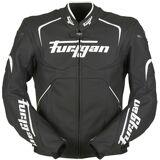 Furygan Ork Motorcykel skinn jacka Svart Vit 3XL