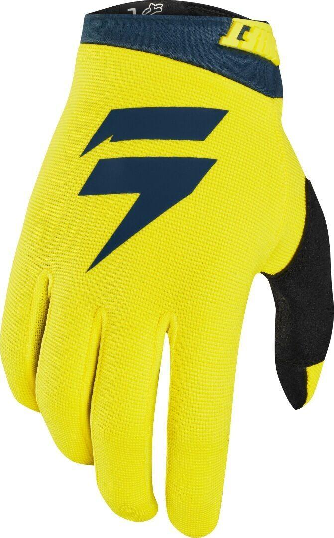 Shift WHIT3 Air Barn Motocross handskar Blå Gul M