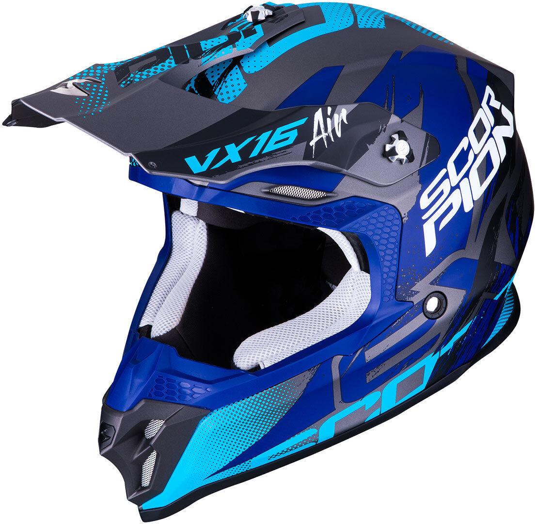Scorpion VX-16 Air Albion Motocross hjälm Blå M