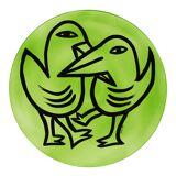 Kosta Boda Final Peace Fat Fåglar Grön 38,5 cm