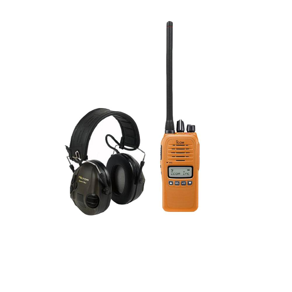 Jaktradio Icom Prohunt Basic 2 Orange + Peltor Sporttac