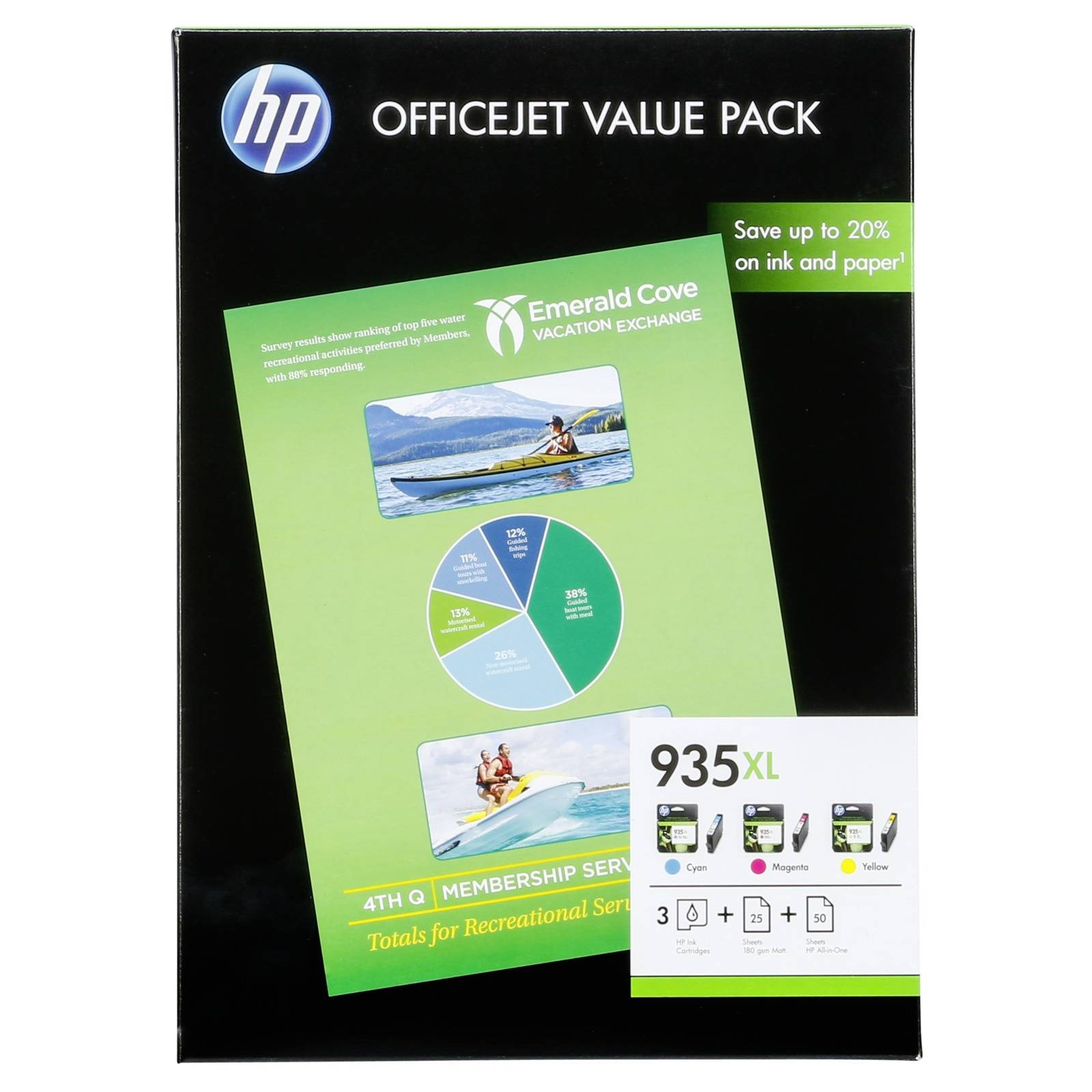 HP F6U78AE Officejet Value Pack C/M/Y No. 935 XL