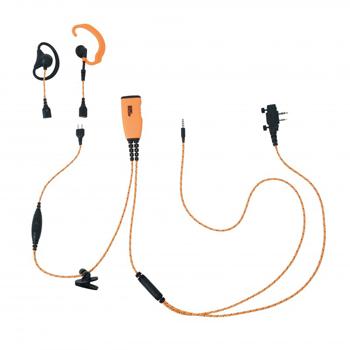 ProEquip PRO-U710LS/LA Orange tygkabel, 4-i-1 Peltor - Orange PTT