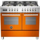 Bertazzoni PRO1006 Gasspis 100 cm, 2 ugnar, 6 brännare, Orange