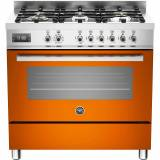 Bertazzoni PRO906 Gasspis 90 cm, 1 ugn, 6 brännare, Orange