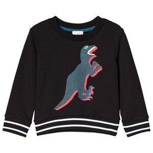 Paul Smith Junior Dinosaur Print Mini Me Tröja Svart 2 years