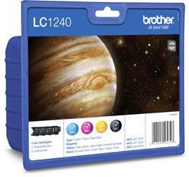 Brother LC1240 Value-Pack - Svart, gul, cyan,