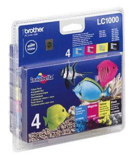 Brother LC1000 Value Pack - 4-pack - svart,