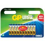 Batteri GP Ultra Plus AAA 10fp