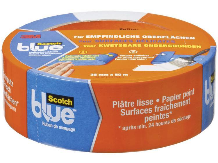 3M Maskeringstejp ScotchBlue™ Blå (LxB) 50 m x 36 mm 3M 7000049402 1 rullar (n)