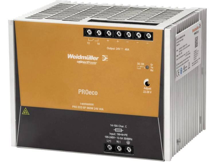 Weidmüller PRO ECO3 960W 24V 40A DIN-skena nätaggregat 12 V/DC 40 A 960 W