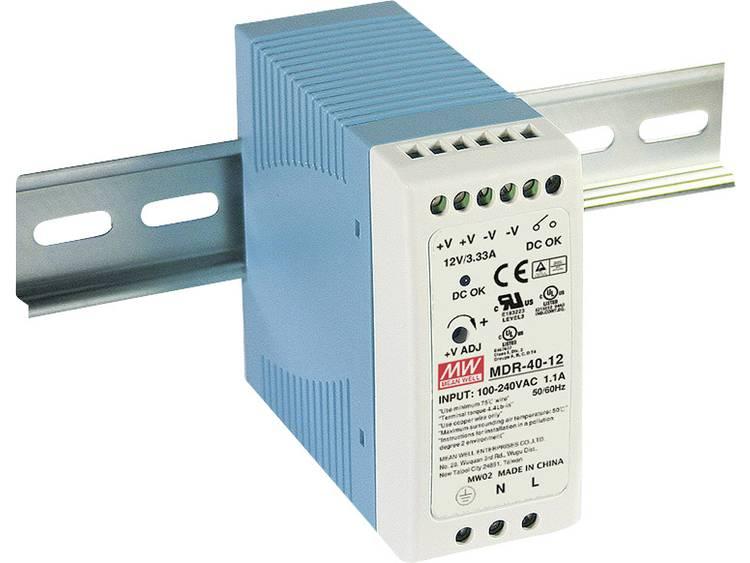 Mean Well MDR-40-12 DIN-skena nätaggregat 12 V/DC 3.33 A 40 W 1 x