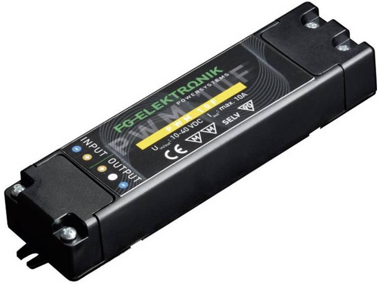 FG Elektronik PWM 10 F LED transformator Konstantspänning 400 W 0 - 10 A 10 - 40 V/DC dimbar, möbelregistrering