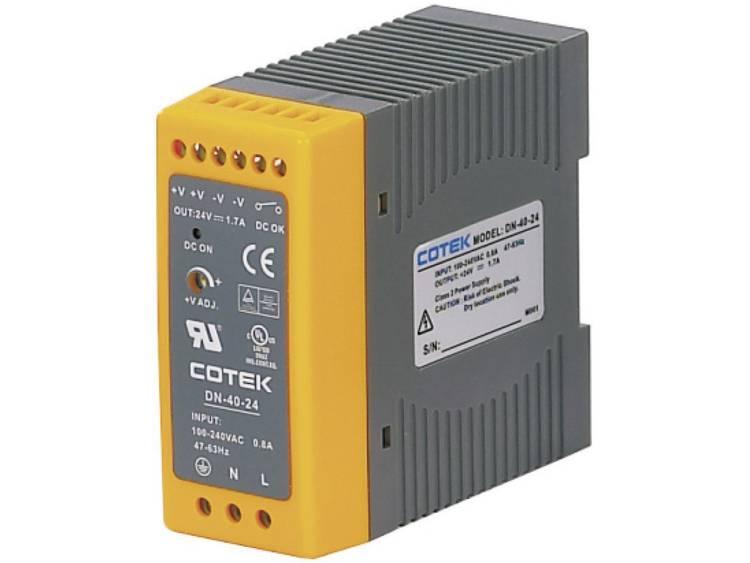 Cotek DN 40-12 DIN-skena nätaggregat 12 V/DC 3.4 A 40.8 W 1 x