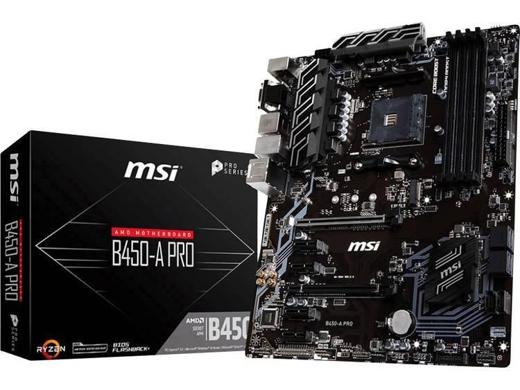 MSI Moderkort MSI B450-A Pro AMD AM4 ATX AMD® B450