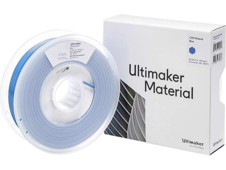 Ultimaker CPE - M0188 Blue 750 - 201273 3D-skrivare Filament CPE 2.85 mm Blå 750 g