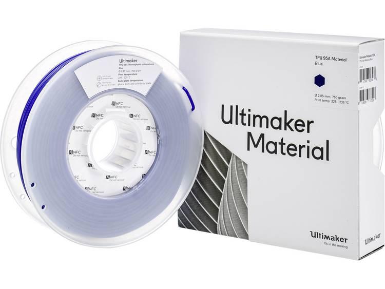 Ultimaker TPU - M0369 Blue 750 - 215194 3D-skrivare Filament semiflexibel 2.85 mm Blå 750 g